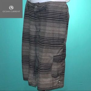 Ocean Current Board Shorts Gray 34 Waist